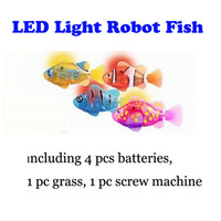pet fish - 2014 New Electronic Pets Toys LED Robo Fish Robot Fish Magical Turbot Electronical Toys Including battery Free