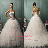 Ball Gown Reference Images Strapless 2014 Amelia Sposa Strapless Ball Gown Wedding Dresses Tulle Ruffles Draped Sexy Corset Ivory Garden Fall Winter Church Wedding Gowns AS1265