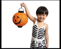 Wholesale Halloween decorations LED Pumpkins lantern jack skeletons spiders bats haunted house bar party props supplies gift for Kids