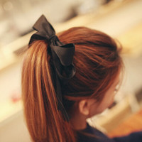 Cheap Free Shipping Elastics Accessories For Hair New 2014 Korean Fashion Cute Girls Solid Boutique Hair Ribbons Bows Wholesale F107
