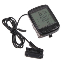 Warterproof bicycle clocks - 24 Functions Waterproof LCD Cycling Bike Bicycle Computer Odometer Speedometer clock H8244