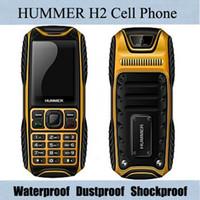 Wholesale Hummer H2 Rugged Waterproof IP67 Cellphone Dual SIM Dual Card GSM Cell Phone Ultrathin Outdoor Dustproof Shockproof Unlock Mobile Phone