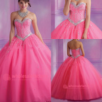 Cheap 2014 Crystal Vintage Ball Gown Quinceanera Dresses Full Length Organza Prom Dress Sweetheart Corset Back Sexy Wedding Gowns BO6572