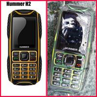 Wholesale Hummer H2 Rugged Waterproof IP67 Cellphone Dual SIM Dual Card GSM Cell Phone Ultrathin Outdoor Dustproof Shockproof Unlock Mobile Phone DHL