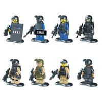Wholesale Squad Navy Seal Team SWAT Army LELE Figures Toys Building Blocks Sets Model Bricks Minifigures Toys