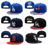 Wholesale 2014 Hot Sale Cheap Baseball Hats Blue Jays Yankees Marlins Dodgers White Sox Red Sox Athletics Snapbacks Men Women Sports Caps Mix Order