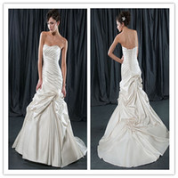 Cheap Sheath/Column 2014 Sheath Wedding Dress Best Reference Images Sweetheart Draping Wedding Dress