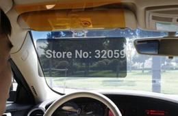 бесплатная доставка Easy View HD день и ночь, и козырек очки ночного видения на ближний свет Зеркало автомобиля Солнцезащитный козырек видим явные козырек 48pcs / много