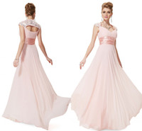 Cheap Young Girls Pink Evening Dresses Hot V Neck Sleeveless Sequined Pleated Chiffon Flowing A-Line Floor Length Prom Gowns Made In China 2014 ZX