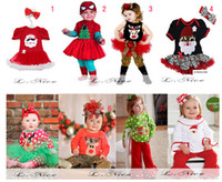 Cheap Wholesale - Baby's Christmas Apparel(Romper 2PCS suits) Children's Special Occasions Wedding & Events 9designs Girls birthday dresses Baby K