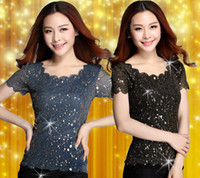 Cheap Fashion 2015 Thin Short Sleeve T Shirt Gauze Round Neck Sexy Shirt Hot Style Black Blue Women Blouse Primer Shirts DH011 M L XL XXL 2pcs lot