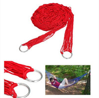 Cheap Best Price New Portable High Quality Nylon Breathable Hammock Hanging Mesh Net Sleeping Bed Swing Outdoor Camping Travel