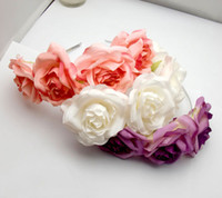 Wholesale 12PX Handmade Floral Crown Tiara Choices Rose Flower Headband Hair Garland Wedding Headpiece