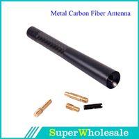 Wholesale New Black cm Carbon Fiber Short Auto Car Antenna Radio Car Aerial Antenna for All Car
