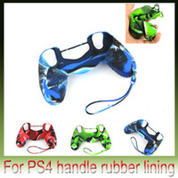 Cheap Silicone Gel Skin Protective Case Cover for Sony PlayStation 4 PS4 Controller Console Silicone Case + Lanyard