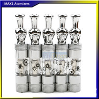 Wholesale Skull Drip Tips MAX1 Atomizer Metal Mouthpiece Atomizers ml Glass Clearomizer Vapor Electronic Cigarette E cigs eGo EVOD Vision Flydream