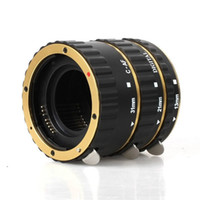 Cheap Gold Auto Focus Macro Extension Tube for CANON EOS EF-S T5i T4i T3i T2i T1i 100D 60D 70D 550D 600D 6D 7D