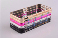 embroidered Aluminium Metal Bumper Case For Iphone 5 5S