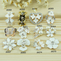 Quilt Accessories Buttons Plating Free Shipping!50pcs lot many colors metal rhinestone button wedding embellishment hair bow garment DIY accessory