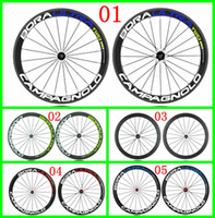 Wholesale Bora Ultra Two D Carbon Road Bicycle Wheels Blue Green Red Decals C Wheelsets Clincher Rim Novatec Hubs Carbon Wheel Set mm Finish