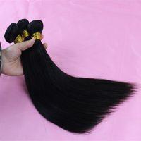Precio de La india al por mayor del pelo natural-El pelo humano recto coreano malasio al por mayor de la extensión Qaulity brasileña del pelo de la extensión del pelo de la Virgen empareja el envío libre del pelo de Goldleaf