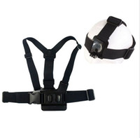 Wholesale 2014 new GoPro Chest Mount Harness and Head Strap Mount For GoPro Hero2 Hero3 Hero Action Camera Drop Shipping