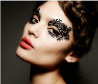 Wholesale Face lace eye shadow sticker LK021 eye makeup Artistic eye mask club party cosmetics face mask eye temporary tattoo