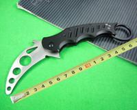 Cheap Survival Folding Knife FOX claw karambit folding training knife G10 handle EDC knife outdoor gear survival knife Gift 218L