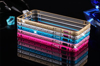 Luxury Aluminum Bumper Frame Case Bling Diamond Bumper Case ...