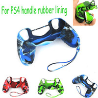 ps4 games - Hot Seller Rubber Silicone Soft Camouflage Case Lanyard for Sony PS4 Game Controller kinds colors