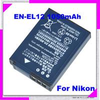 Wholesale DHL FREE EN EL12 mah Rechargeable Quality Digital Camera Battery Akkumulator For Nikon CoolpixAW100 S6000 S610 S6100 S610c S620 S630