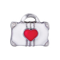 Wholesale New Design red heart bag Locket Charms Fit Glass Memory Living Lockets