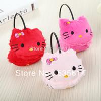 Wholesale Retail Baby Kids Plush earmuffs Cute bowknot KT earflap Princess Warm earmuff Colors Good quality