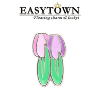 Cheap New tulip Floating Locket Charms Fit Glass Memory Living Lockets