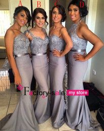 Custom Made Mix Style Long Cheap Bridesmaid Dresses Halter Mermaid Sexy Cheap Formal Prom Dresses Backless Formal Evening Gowns BO6556