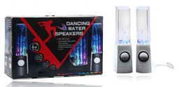 Wholesale Dancing Water Speaker Mini Music Soundbox USB Powered Colorful LED Fountain Speakers for iPhone iPad iPod Laptop PC Cellphones