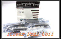 Cheap 2014 Hot sale coils iClear 16 iclear 30 iclear 30B iclear 30S Clearomizer dual coil head 1.5ohm 1.8ohm 2.1ohm for itaste 134 mvp 2.0