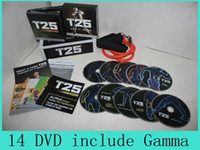 Wholesale T25 Focus MIB Shaun T s Rockin Body DVD With Resistant Band Factory Sales Home Body Exercise Alpha Beta Core Speed Gamma Drop Ship DHL