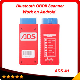 Wholesale 2014 Automotive Diagnostic ADS A1 Bluetooth OBDII Scanner Support almost kinds of cars Two years free Software update Online DHL free