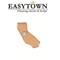 Cheap New design map of California Floating Locket Charms Fit Glass Memory Living Lockets