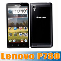 Wholesale New Arrival Original Lenovo P780 inch android Mobile phones MTK6589 Quad Core GHz mAh battery MP Camera Dual SIM churchill