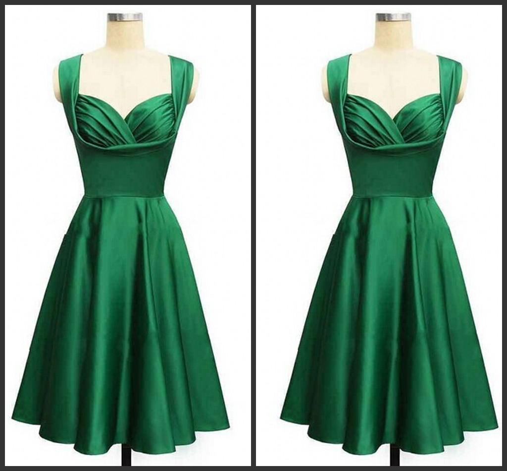 Gorgeous 2017 Style Emerald Green Knee Length Cocktail Or