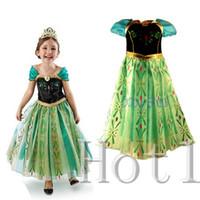 Cheap DHL free shipping summer dress 2014 tutu kidsdress girl party dress anna princess costume baby girls elsa dress new frozen dress 100-140cm