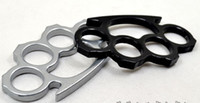 Wholesale 10PCS Silver or Black Thin Steel Brass knuckle dusters Self Defense Personal Security Women s and Men s self defense