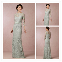 New Collection 2015 Sexy Bateau Lace Mother of the Bride Dre...