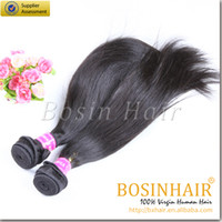 Wholesale Malaysian Silky Hair Straight Extension Grade A Black Remy Human Hair Straight Extension