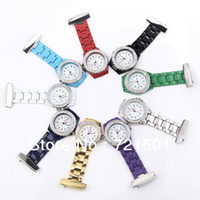 Wholesale Crystal Unisex Colors Fobwatch Nurse Watch With Pin Fob Brooch Pendant Hanging Pocket Hot J J