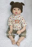 Cheap OP-NEW fashion 3 4 Vinyl Silicone Reborn Baby Doll Lifelike baby dolls girl's doll 100% handmade