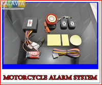 Wholesale 1set one way water proof Motorcycle alarm system Remote Control engine start with siren db anti theft S001 JJJ