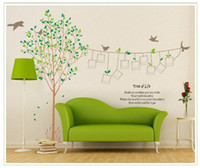 art pictures for kids - Large Green Tree with Picture Frame DIY Wall Decals for Home Decor